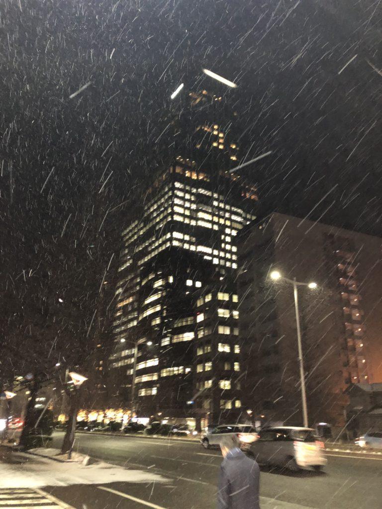 真冬の仙台ウェスティン
