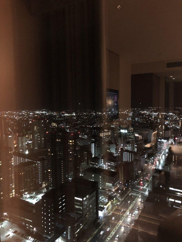 ウェスティンホテル仙台 部屋から見た夜景①