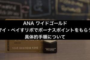 ANAワイドゴールド マイ・ペイすリボの具体的設定手順。アイキャッチ画像