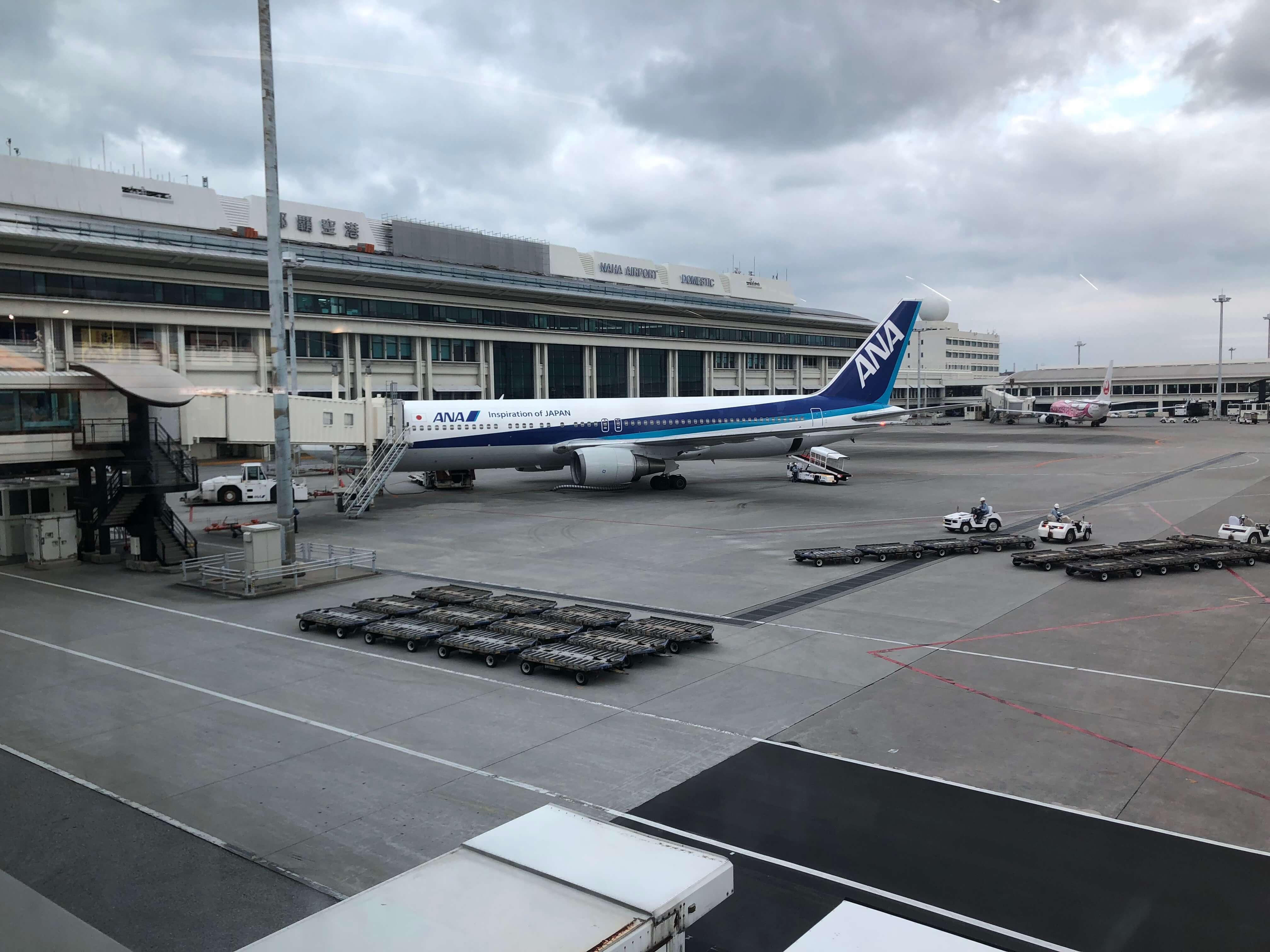 ANA飛行機@那覇空港