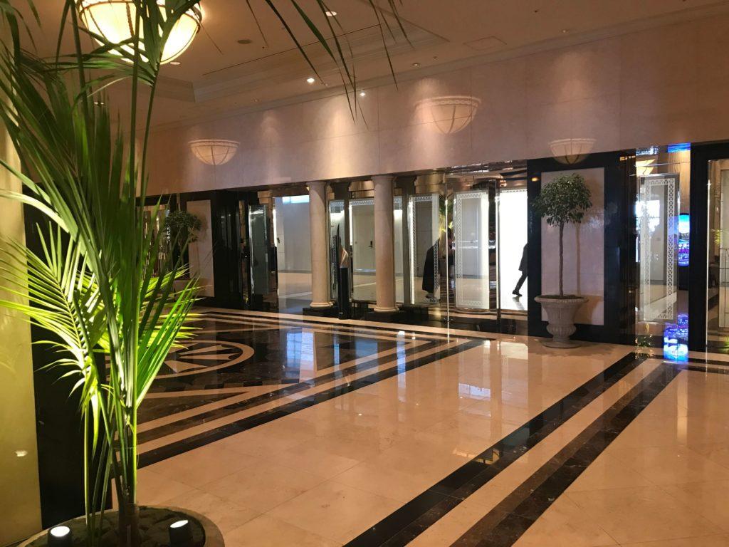 マリオットホテル入り口画像。