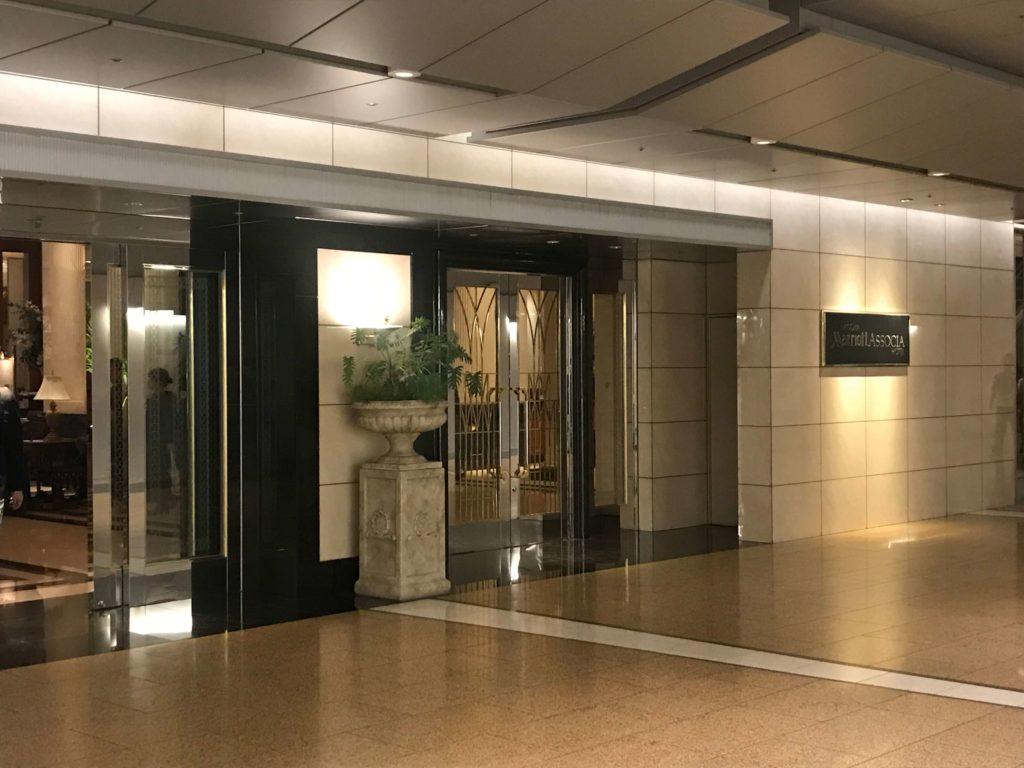 名古屋マリオットホテル入り口前画像