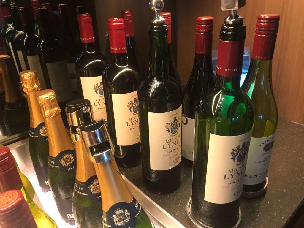 大阪マリオット都ホテル。ラウンジ、ワイン