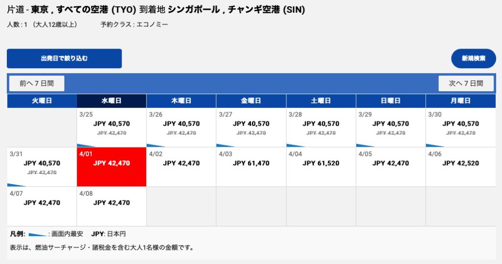 エアチャイナ 便。東京発片道チケット。