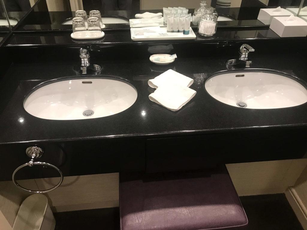 ウェスティン大阪。洗面所。