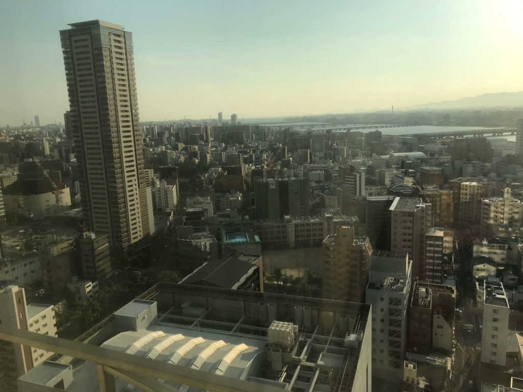 ウェスティン大阪。部屋からの眺望。