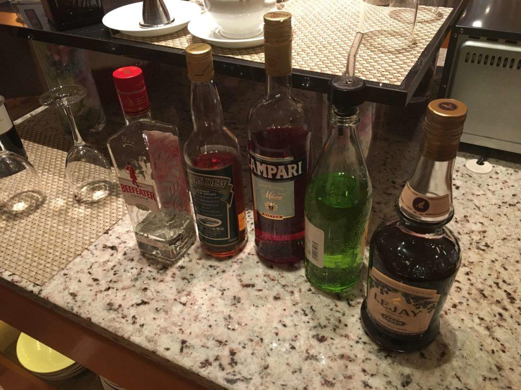 シェラトングランドホテル広島。お酒。