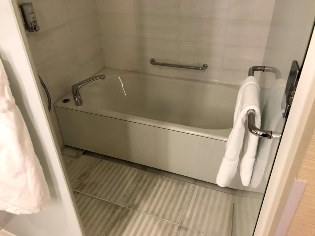 シェラトングランドホテル広島。お風呂。