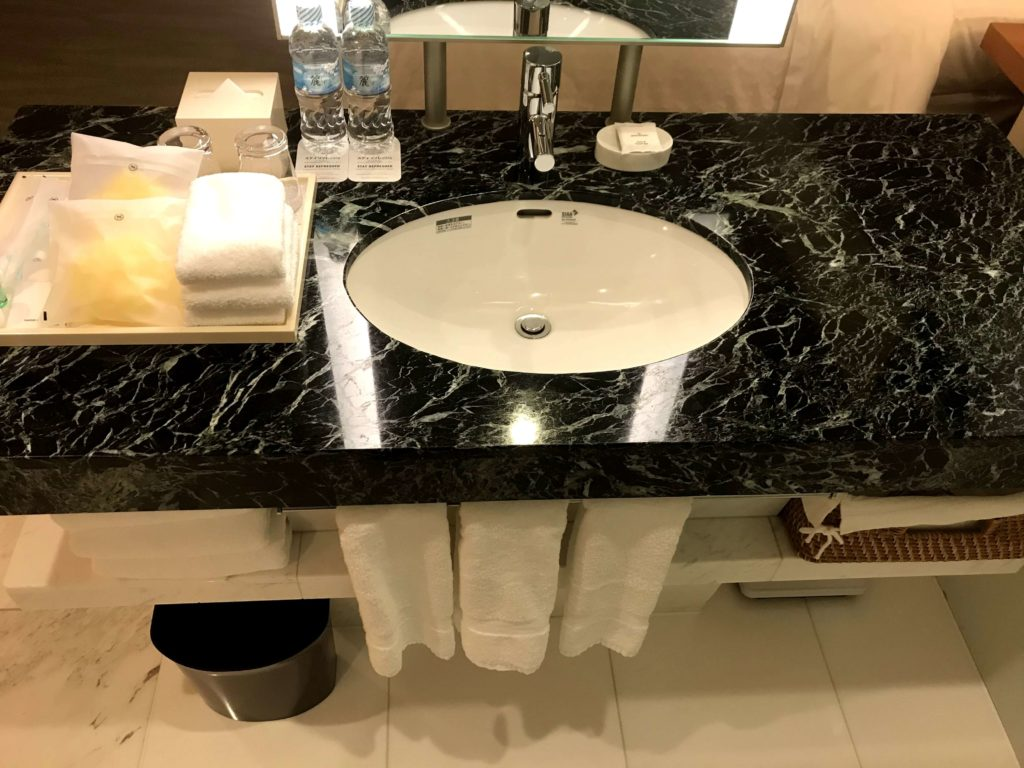 シェラトングランドホテル広島。洗面所。
