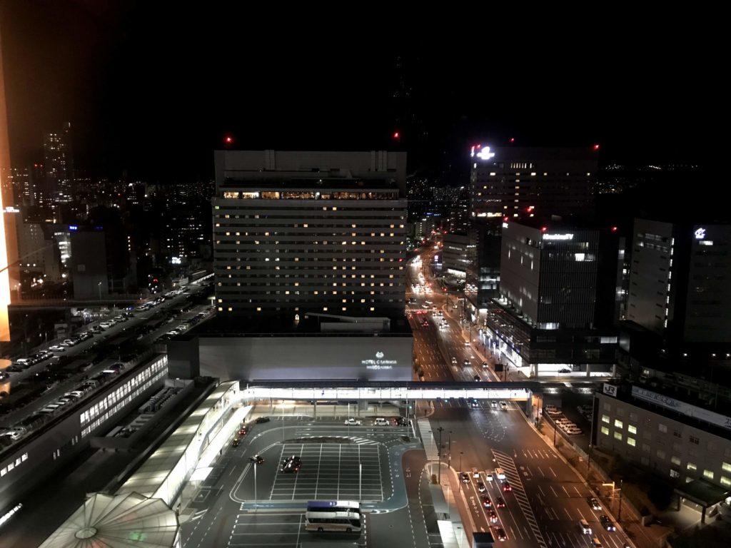 シェラトングランドホテル広島。部屋からの夜景①
