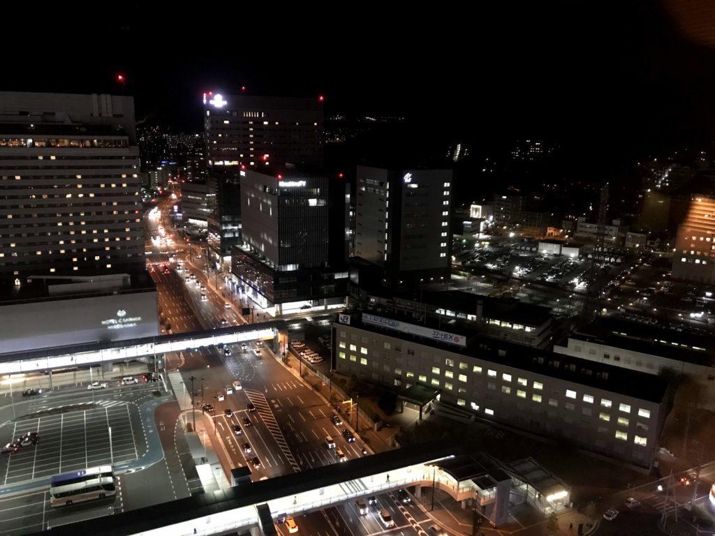 シェラトングランドホテル広島。別角度。夜景。